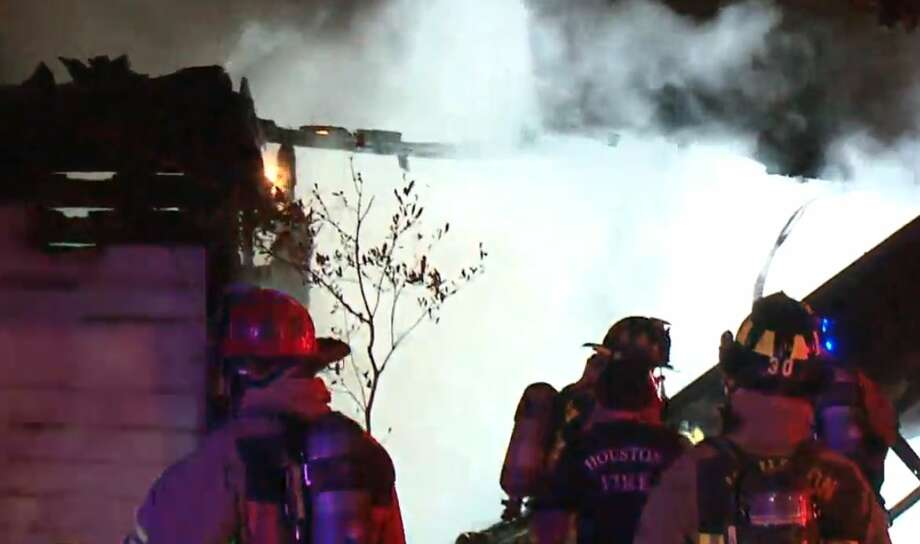 Firefighters extinguished flames at a house on Meta and Veenstra on Thursday, Sept. 27, 2018. Photo: Metro Video