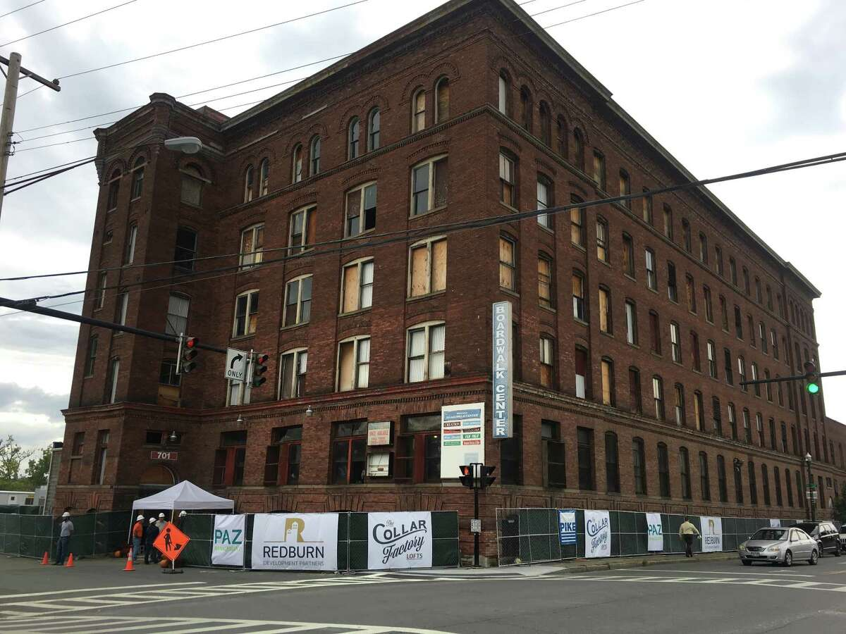 Ground was broken on Sept. 26 at the Marshall Ray building at 701 River St. in Troy. Empire State Development partnered with Redburn Development Partners on the $16 million project. The building was heavily damaged in a July 2019 blaze but is now nearing completion, developers said March 4, 2021.