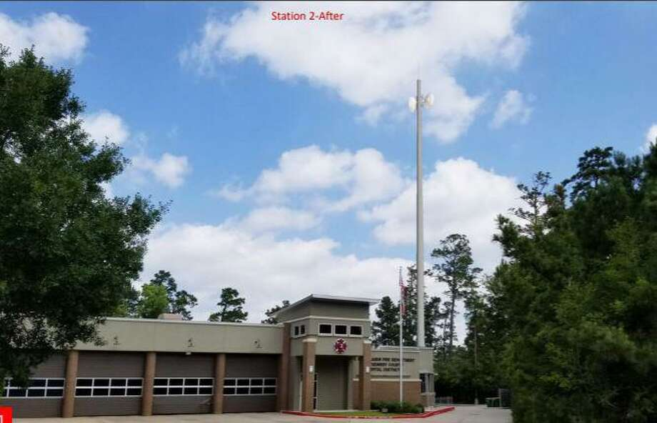 Interim Fire Chief Doug Adams of The Woodlands Fire Department said the new communications tower project began earlier in June and should be completed in about 45 days from June 25. The project will improve internet speeds, connectivity to crucial lines of communication and be an overall boost to the safety and response times of the fire department and others, he said. Photo: Courtesy Images/The Woodlands Township / Courtesy Images/The Woodlands Township