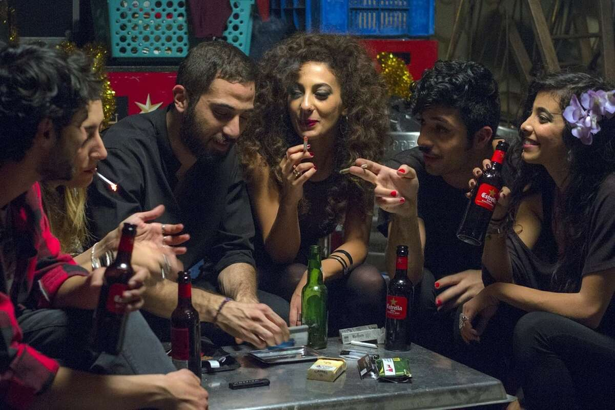 """A scene from the Israeli drama """"In Between,"""" about young Palestinians in Tel Aviv."""
