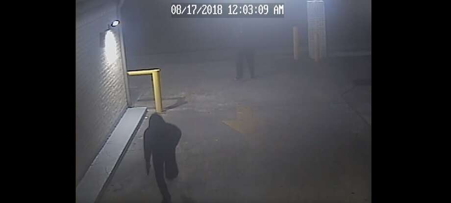 PHOTOS: Man held at gunpoint with prostitute in truckHouston police are looking for two suspects seen on surveillance video who shot a man during an attempted robbery last month. The victim had just picked up a prostitute at the time. >>>See a play-by-play of the violent robbery Photo: Houston Police Department