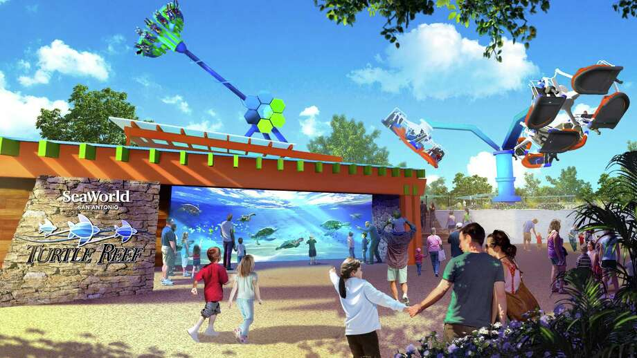 SeaWorld San Antonio will open an interactive sea turtle attraction and three rides in spring 2019, the theme park announced Thursday. Photo: SeaWorld San Antonio