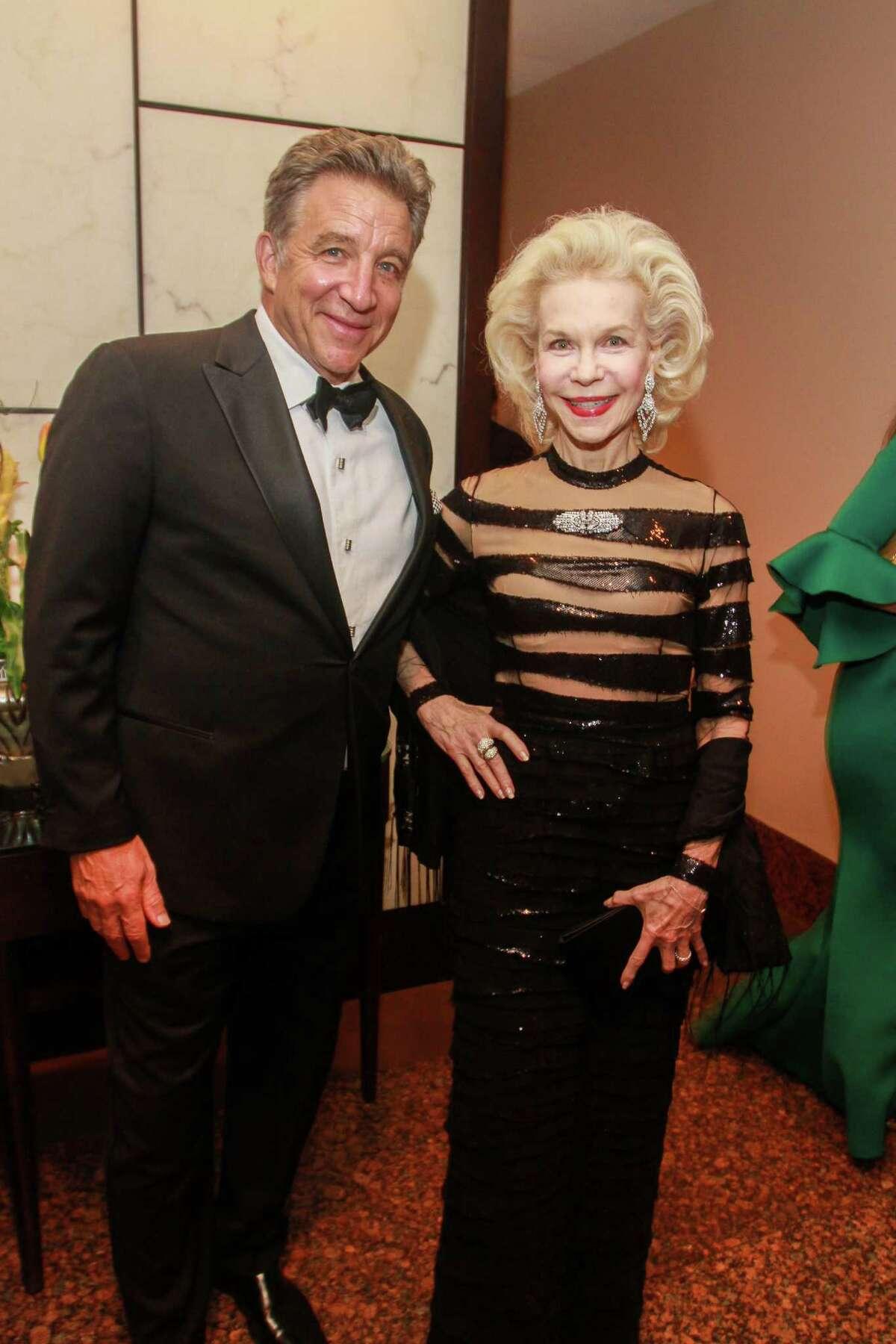 Steven Wyatt and Lynn Wyatt at the Houston Grand Opera re-opening gala.