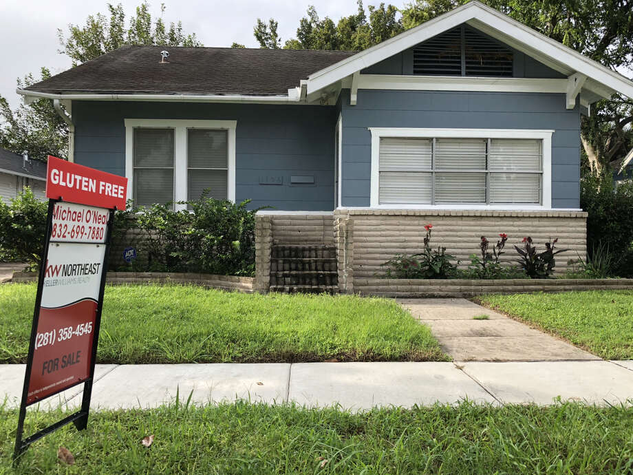 A house in the Heights Norhill District advertises that it's gluten free. Photo: Houston Chronicle