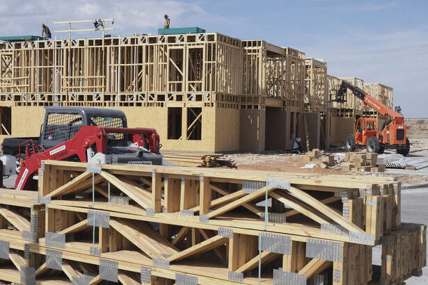Construction began earlier this year on an apartment complex off Beal Parkway between Leisure and Thomason drives.