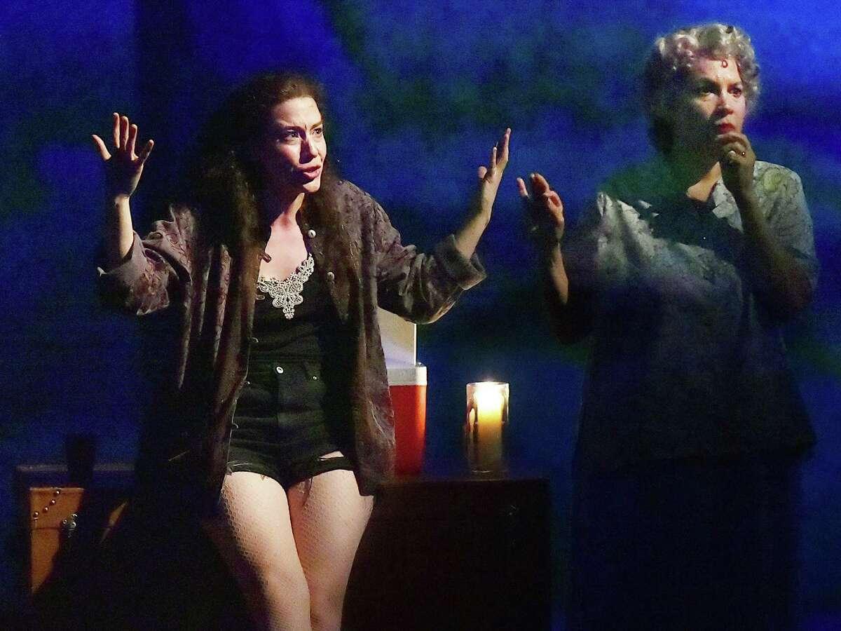 Irene Sofia Lucio as Miranda and Adriana Sevahn Nichols as Valeria.