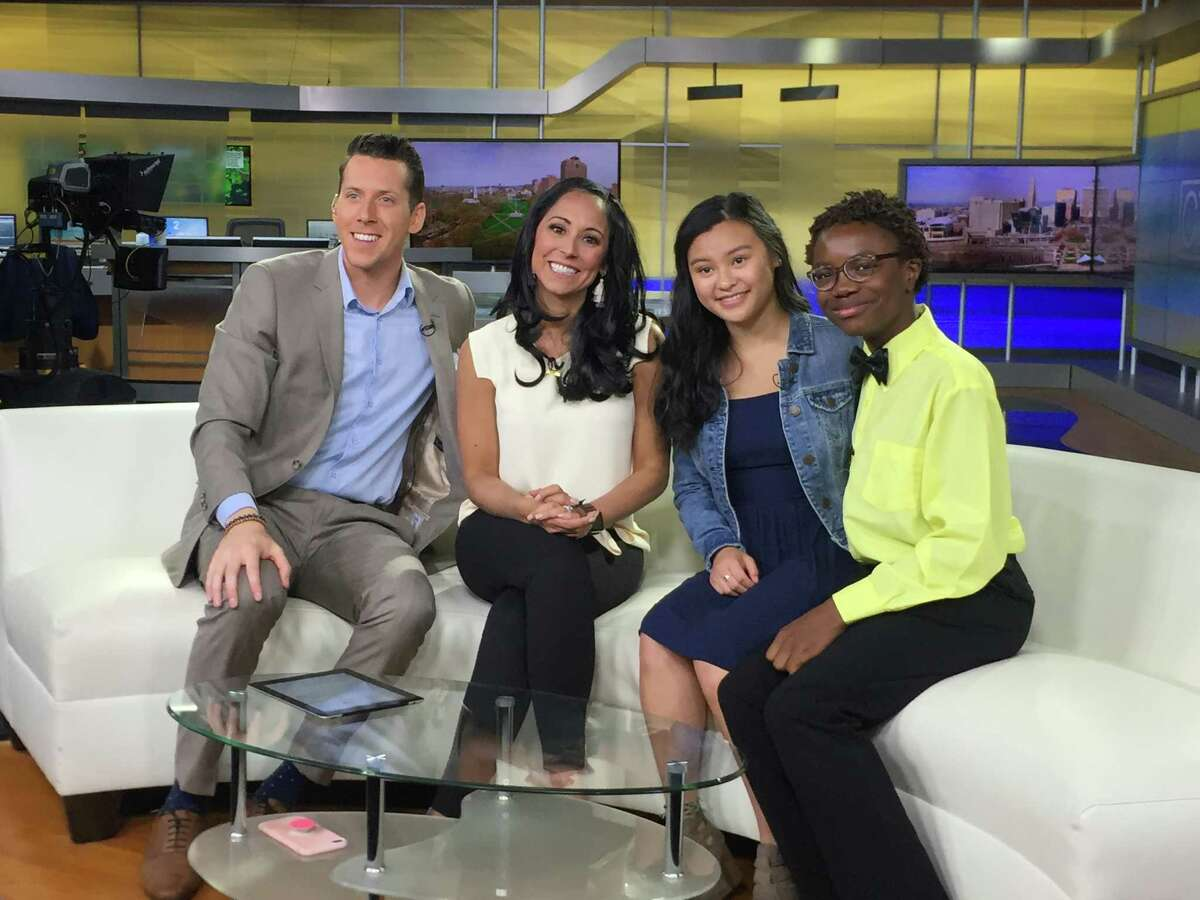 """CT Style hosts Ryan Kristofer and Teresa DuFour (left) did a """"Konversations with Keeme"""" episode with director Jaden Bonfietti and host Ajibola """"Keeme"""" Tajudeen."""