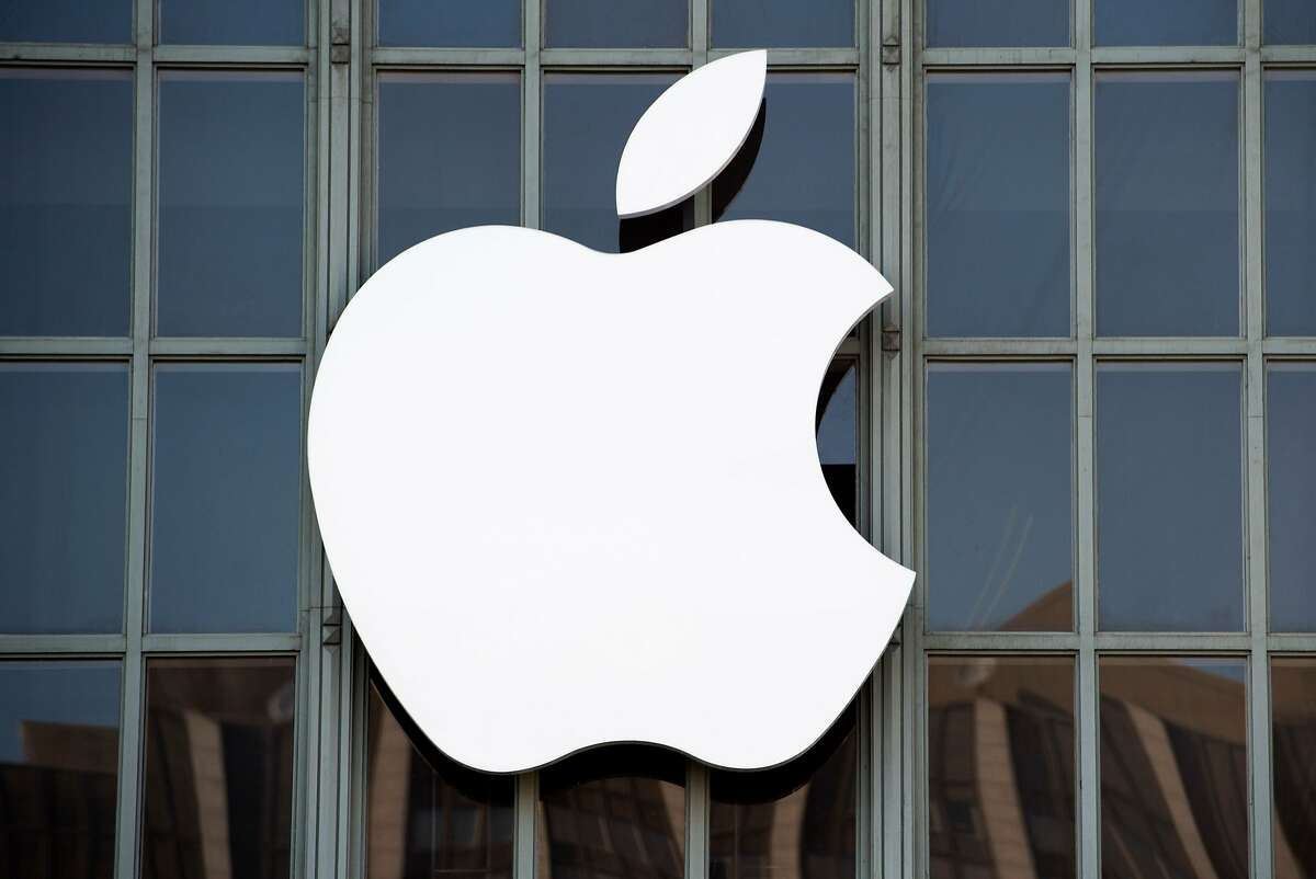 (FILES) In this file photo taken on September 7, 2016 the Apple logo is seen on the outside of Bill Graham Civic Auditorium in San Francisco, California. - The EU on September 6, 2018 approved US tech giant Apple's plan to buy leading song-recognition app Shazam, saying the move would not reduce choice for music streaming consumers. The bloc launched a detailed probe into the deal with London-based Shazam, worth a reported $400 million, in April, at the request of several EU states amid fears it could harm competition in an intensifying battle of streaming services. (Photo by Josh Edelson / AFP)JOSH EDELSON/AFP/Getty Images
