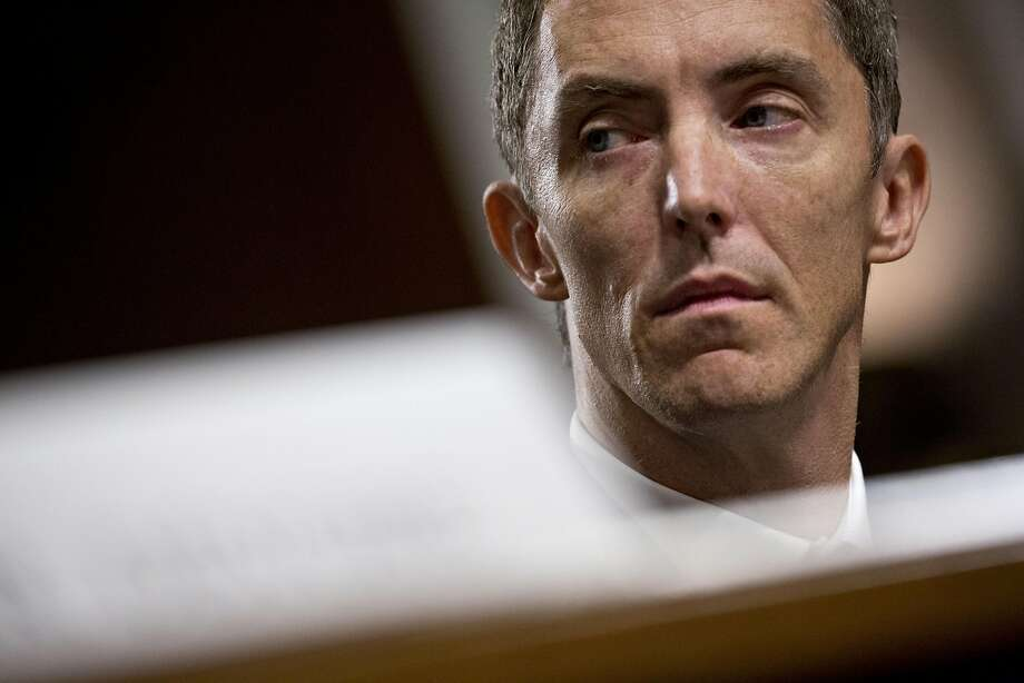 Keith Enright, chief privacy officer with Google, listens during a Senate Commerce Committee hearing on consumer data privacy. Photo: Andrew Harrer / Bloomberg