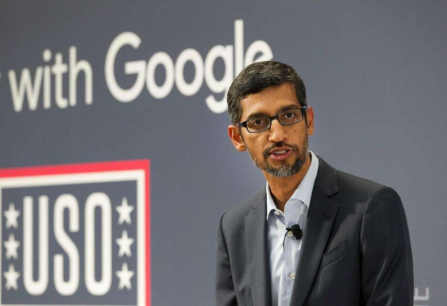 Google CEO Sundar Pichai is due to meet Friday with Rep. Kevin McCarthy of Bakersfield — a Google critic. Photo: John Gibbins / San Diego Union-Tribune