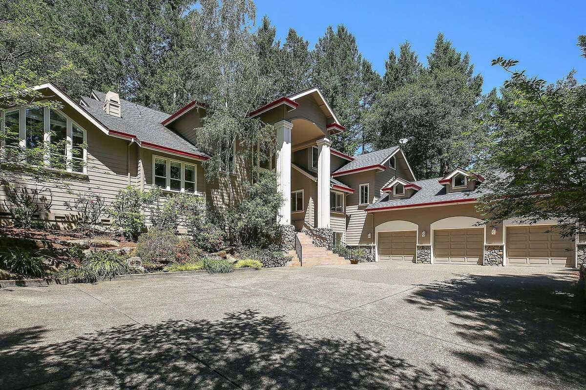 The Santa Rosa home includes an attached three-car garage.