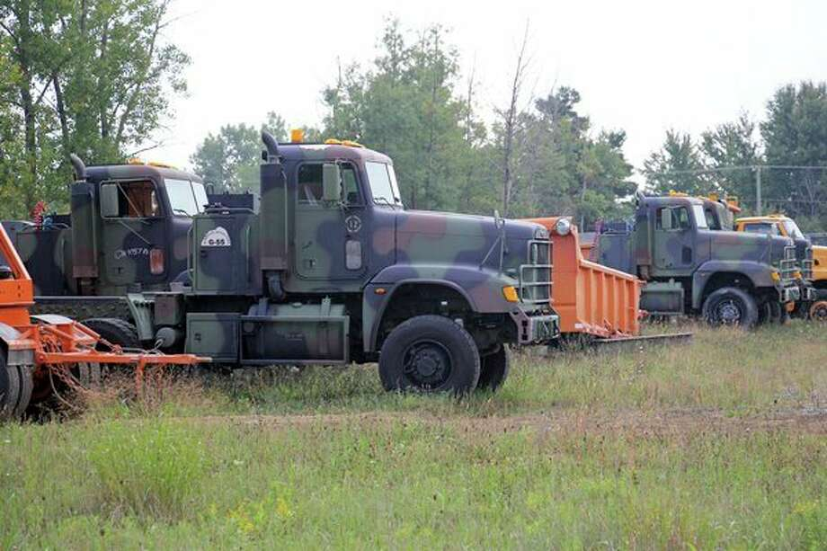 The Huron County Road Commission began purchasing military vehicles to be converted and used in the road commission's fleet. (Seth Stapleton/Huron Daily Tribune)