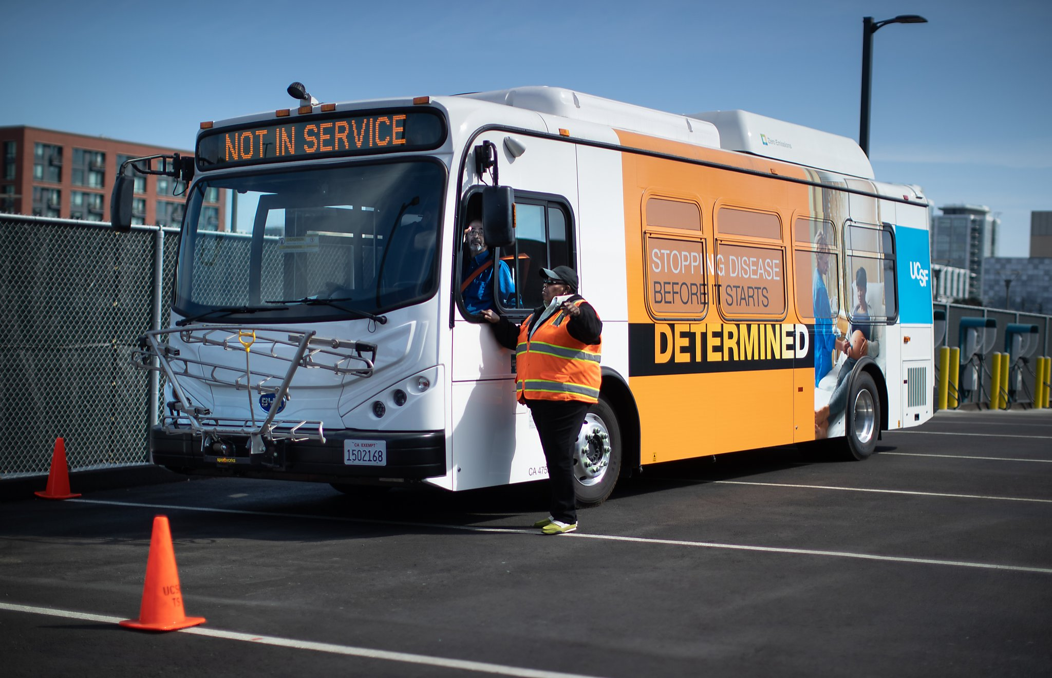 UCSF rolls out new fleet of electric buses to reach carbon