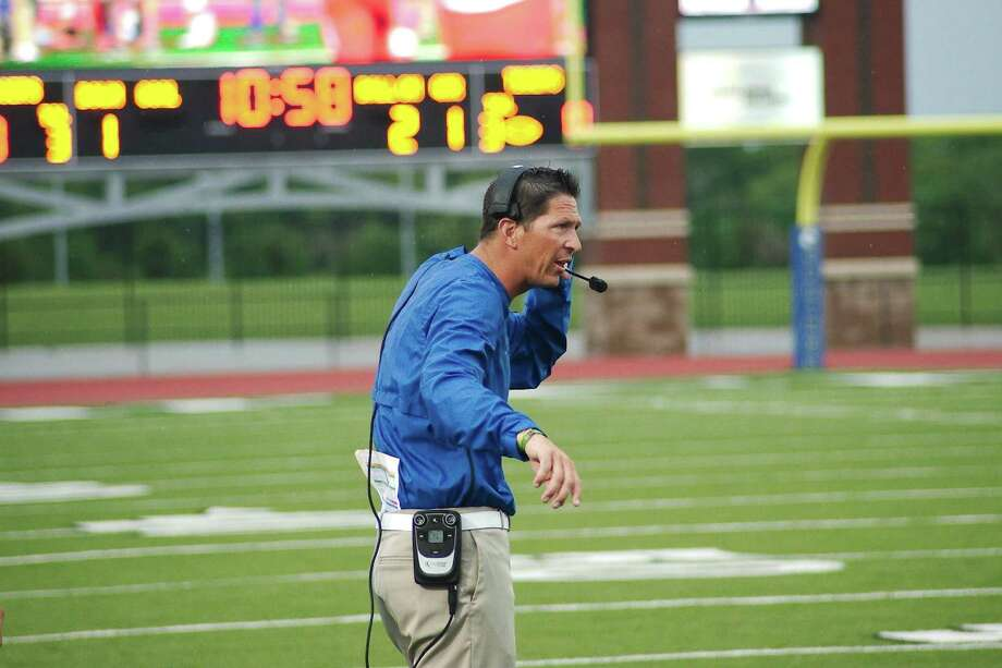 Clear Springs head football coach Craig Dailey watched his team remain unbeaten in District 24-6A with a 49-6 victory over Alvin Saturday. Photo: Kirk Sides / Houston Chronicle / © 2018 Kirk Sides / Houston Chronicle