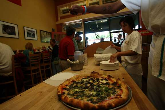 Interior shot of the Gioia Pizzeria in Berkeley, Calif., on Wednesday, July 16, 2008.   Photo by Liz Hafalia/The Chronicle
