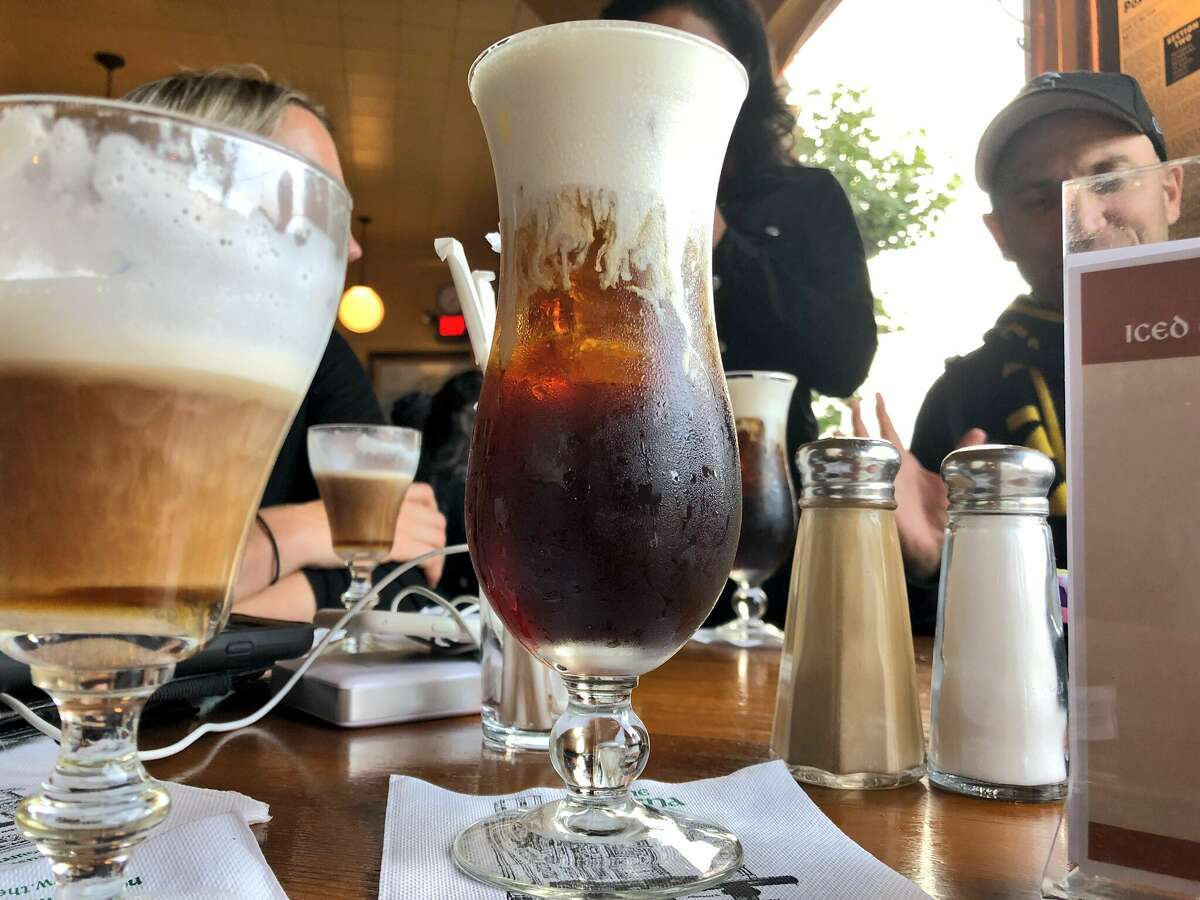 The iced Irish coffee, seen here, is a new addition to the offerings at the Buena Vista Cafe.