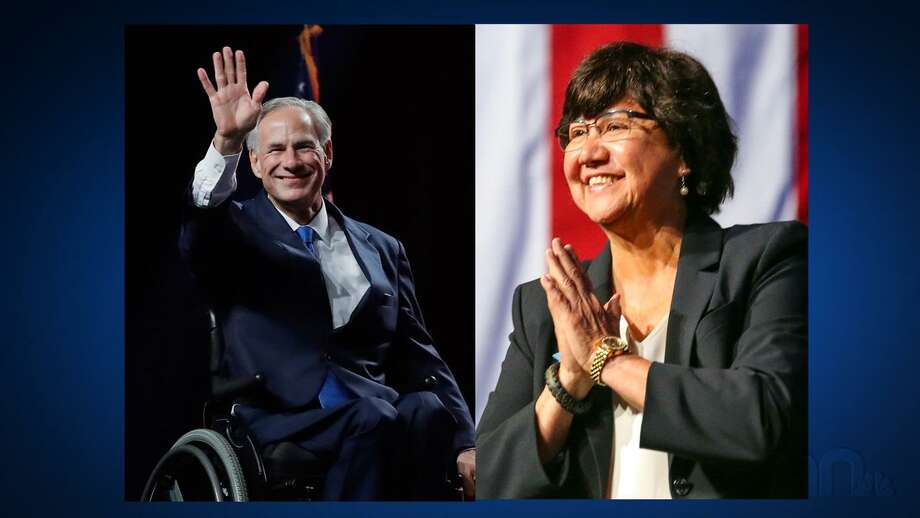 Republican Gov. Greg Abbott and Democratic gubernatorial candidate Lupe Valdez will meet in a televised debate Friday. Photo: The Editorial Board / Associated Press
