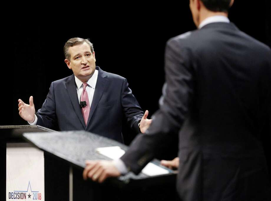 Sen. Ted Cruz (R-Texas) during a debate with Rep. Beto O'Rourke (D-Texas) at McFarlin Auditorium at Southern Methodist University in Dallas on Friday, Sept. 21, 2018. (Tom Foxr/Dallas Morning News/TNS) Photo: Tom Fox, POOL / TNS / Dallas Morning News