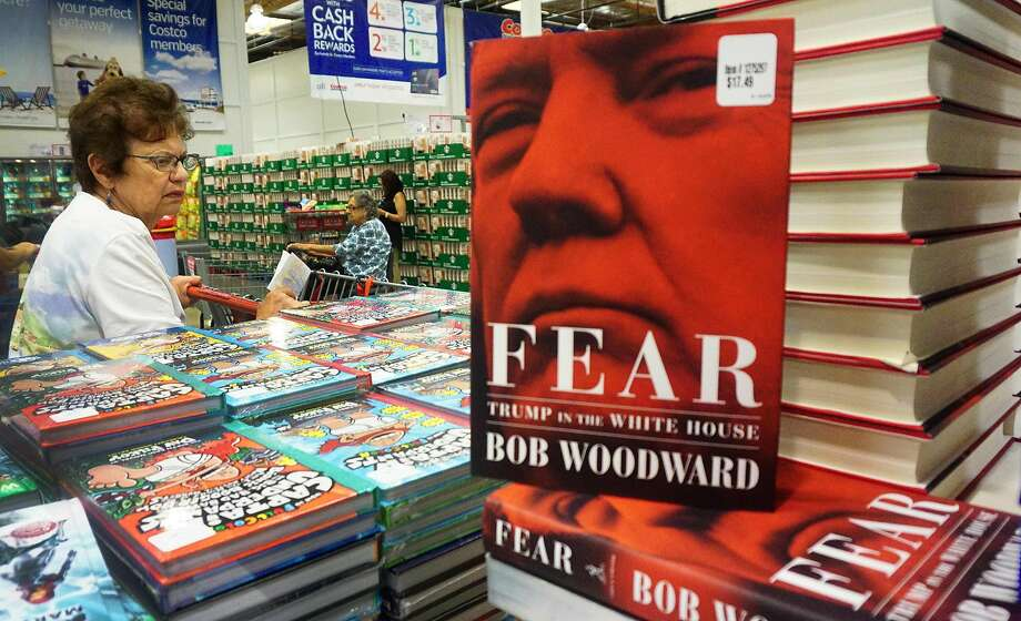 "(FILES) In this file photo taken on September 11, 2018 Veteran journalist Bob Woodward's latest book ""Fear: Trump in the White House"" is displayed for sale at a Costco store in Alhambra, California on September 11, 2018. - Woodward's incendiary ""Fear: Trump in the White House"" has become the fastest selling book in Simon and Schuster's history, the publisher said on September 18, 2018, shifting 1.1 million copies in its first week. (Photo by Frederic J. BROWN / AFP)FREDERIC J. BROWN/AFP/Getty Images Photo: FREDERIC J. BROWN, AFP/Getty Images"