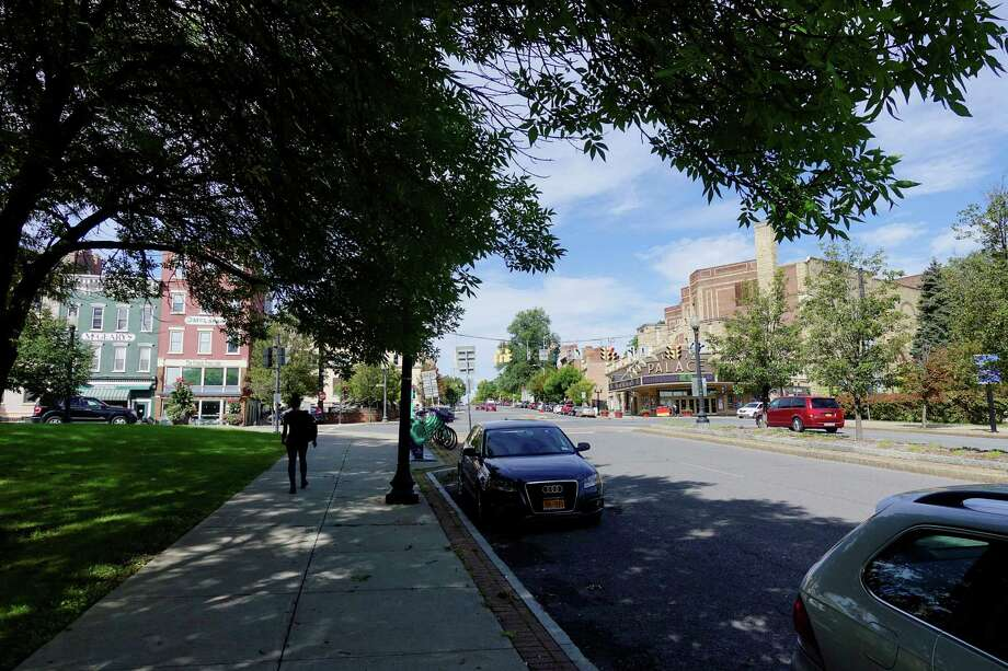 A view looking up Clinton Ave. in the Clinton Square area of Albany, seen here on on Thursday, Sept. 27, 2018, in Albany, N.Y. The State announced on Thursday that Albany would receive a $10 million downtown revitalization grant that will used for this area of the city.   (Paul Buckowski/Times Union) Photo: Paul Buckowski / (Paul Buckowski/Times Union)