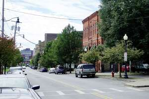 A view looking south along North Pearl Street in the Clinton Square area of Albany, seen here on on Thursday, Sept. 27, 2018, in Albany, N.Y. The State announced on Thursday that Albany would receive a $10 million downtown revitalization grant that will used for this area of the city.   (Paul Buckowski/Times Union)