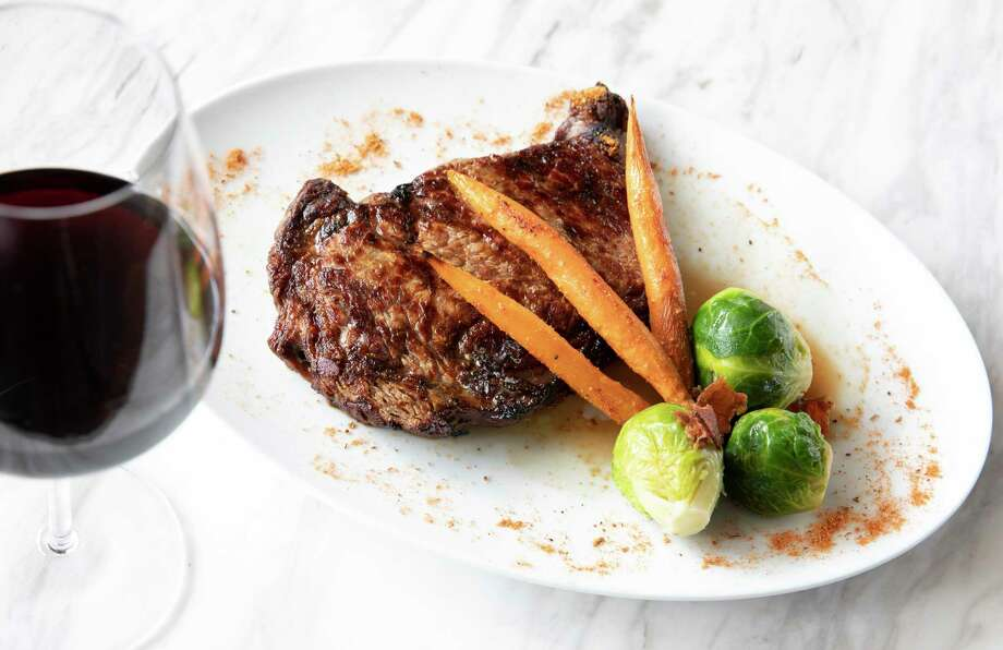 Veal chop at Jonathan's the Rub, opening its second restaurant at Memorial Green on Oct. 4. Photo: Julie Soefer