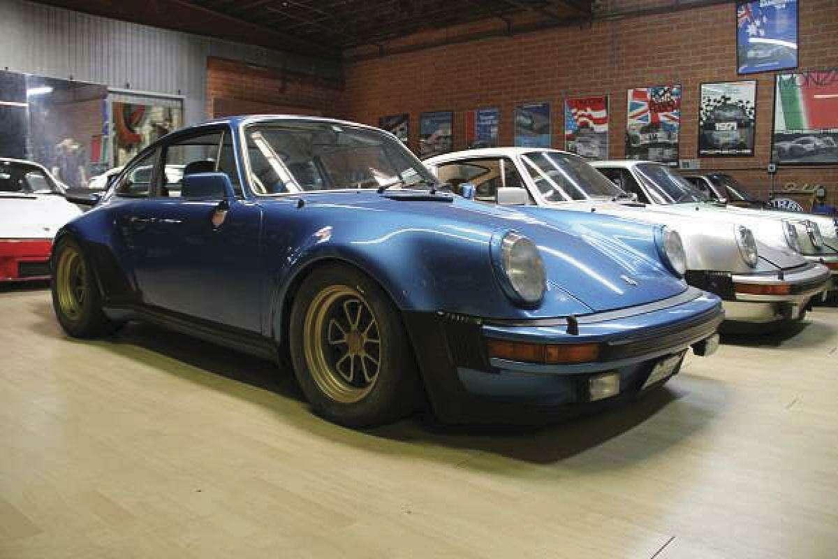 This 1976 Porsche 930 Euro is part of Walker's collection. (Photo by Heidi Van Horne)
