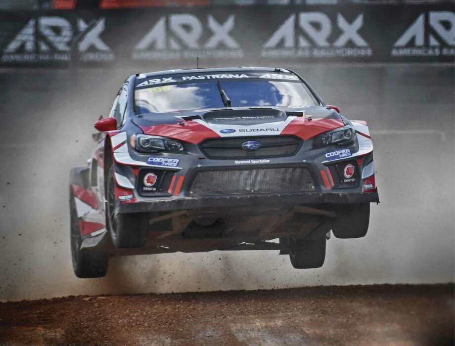 In July, just days after Travis Pastrana paid tribute to Evel Knievel by jumping over a stack of 52 cars in Las Vegas while on a motorcycle, the popular driver was in the air again, only this time in a 600-horsepower race-prepped Subaru WRX. (Photo courtesy of Lars Gange/Subaru)