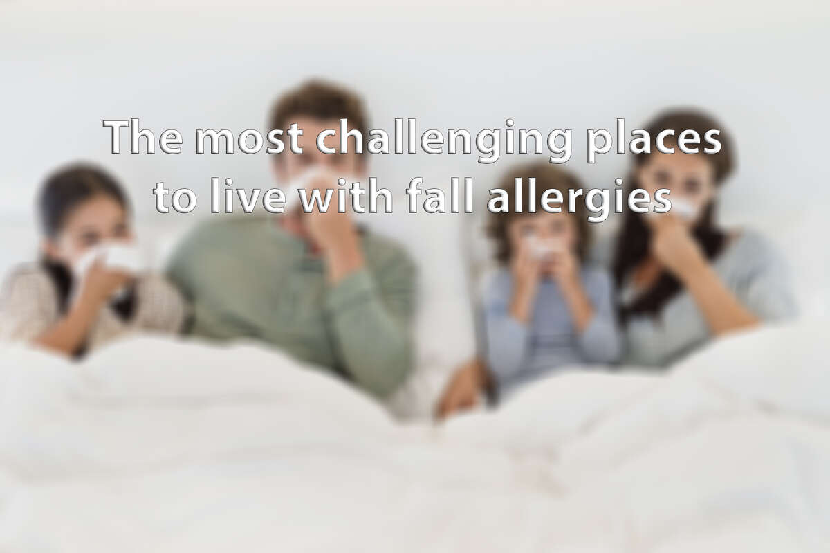 Click through the slideshow to see the most challenging cities to live in with fall allergies.