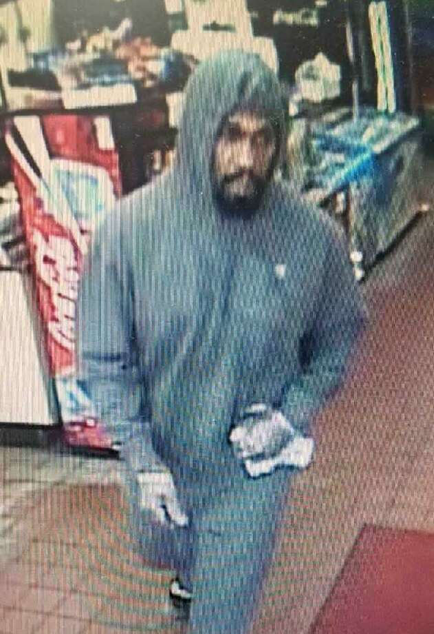 Surveillance photo of Krauzer's robbery suspect, later identified as Jaquan Glass. Photo: Courtesy Of West Haven Police Dept.