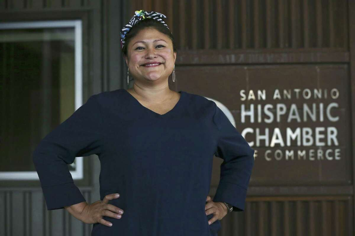 San Antonio Hispanic Chamber of Commerce 2018 Chairwoman Erika Prosper outside of their offices at The Pearl on Aug. 27, 2018.