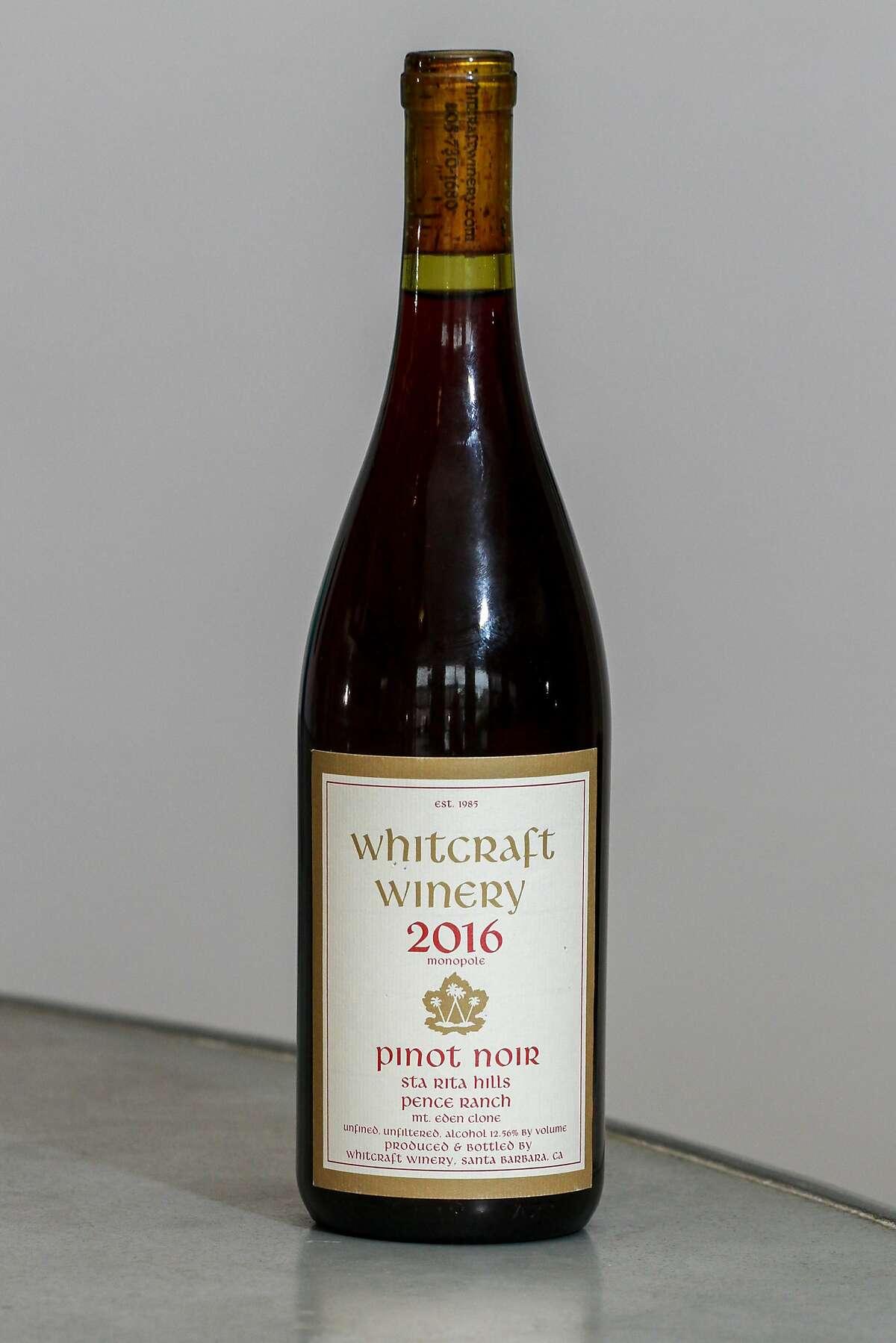 Whitcraft Winery 2016 Pinot Noir Sta Rita Hills Pence Ranch.