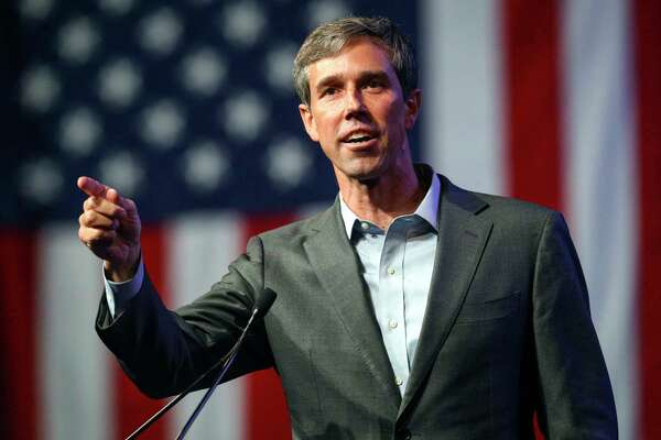 FILE - In this June 22, 2018, file photo, Beto O'Rourke speaks during the general session at the Texas Democratic Convention in Fort Worth, Texas. O'Rourke will have the first of three scheduled debates Friday, Sept. 21, 2018, in Dallas against U.S. Sen. Ted Cruz. (AP Photo/Richard W. Rodriguez, File)