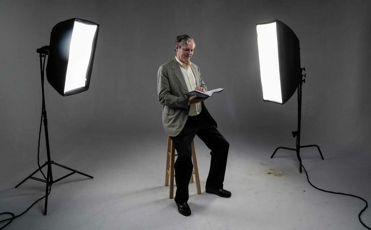 Robert Bradley, Jr., the former speech writer for Ken Lay, who was the former head of Enron, poses for a portrait in the Houston Chronicle studio, Tuesday, Sept. 25, 2018, in Houston.