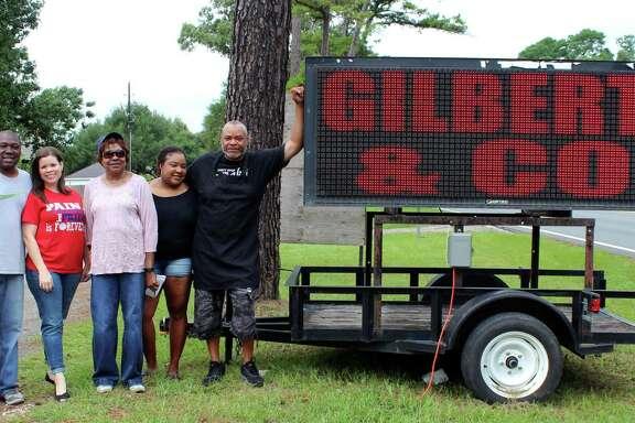 From left to right: Shawn Gilbert, Tricia Gilbert, Ida Burns-Gilbert, Sharice Gilbert and Andre Burns.