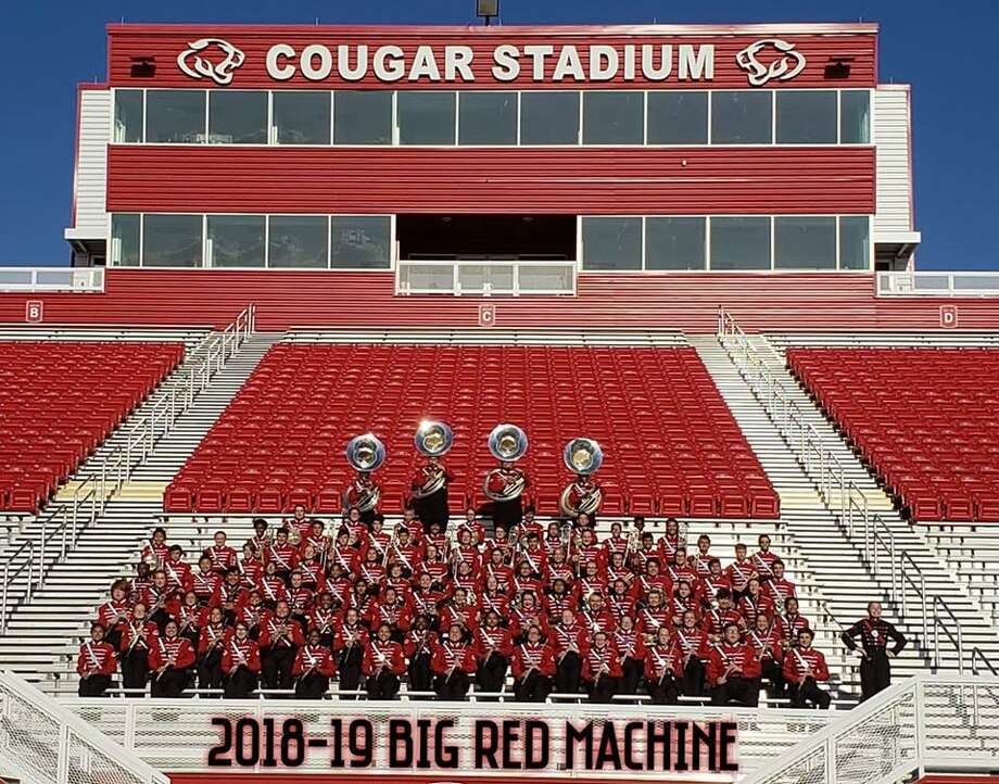 The 2018-2019 Crosby High School Big Red Machine marching band Photo: CHS Big Red Machine Facebook Page
