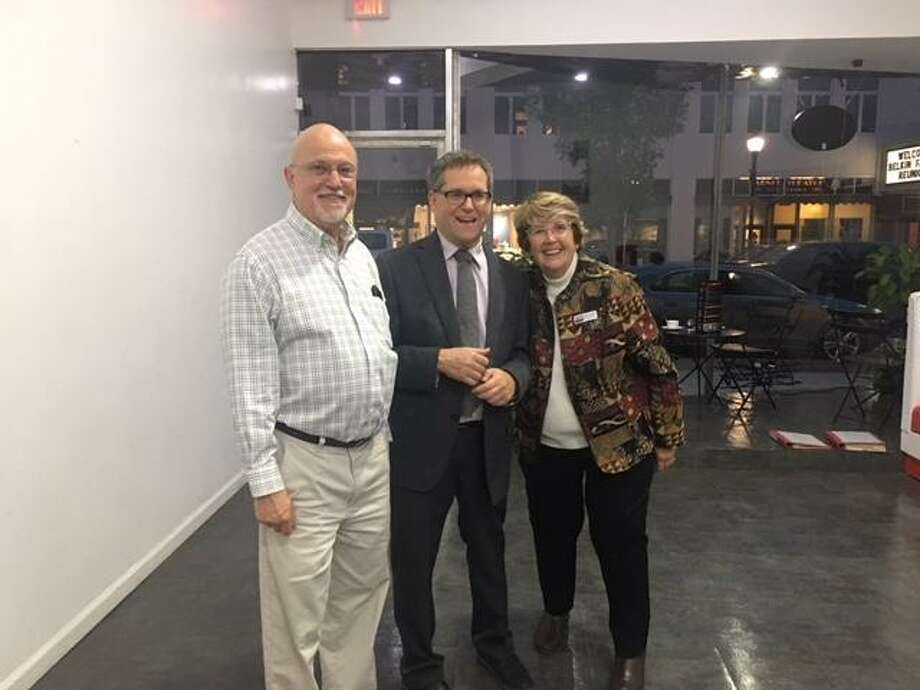 The Torrington Downtown Partners celebrated its 8th anniversary Friday night at Restaurant 829, a new eatery on Main Street. From left are partners David Bender, Steven Temkin, and Sharon Waagner. Photo: Contributed Photo /