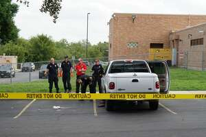 San Antonio police report a man is in critical condition after shooting himself in the head Friday afternoon, Sept. 28, 2018, on the North Side at an SAPD substation.