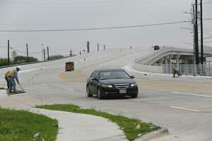 Traffic is flowing again on Collingsworth after HCTRA opened the first of three overpasses planned on the north side related to extending the Hardy Toll Road to downtown Friday, Sept. 28, 2018, in Houston.