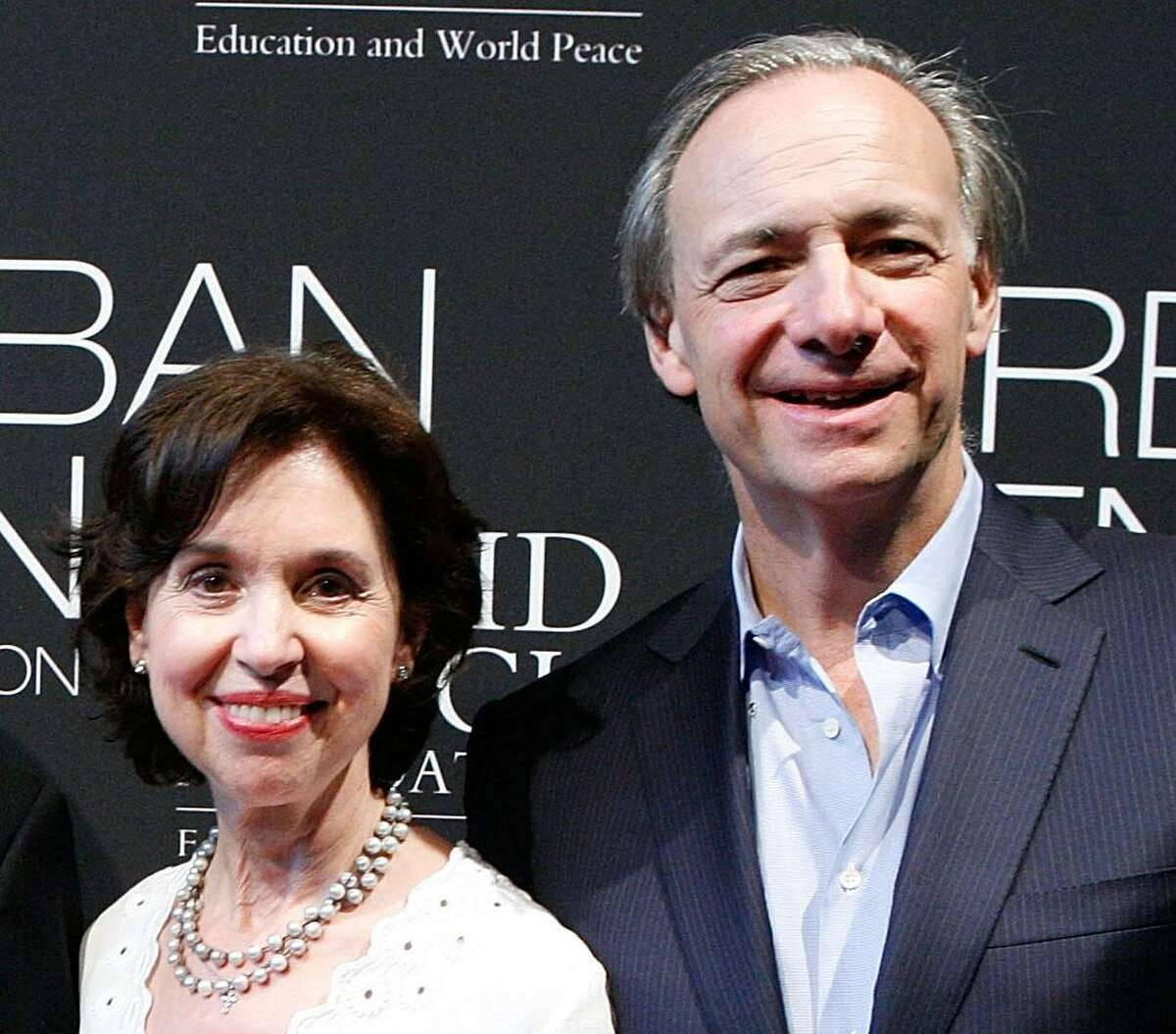 Barbara and Ray Dalio attend the Operation Warrior Wellness launch at the Urban Zen Center At Stephan Weiss Studio on June 7, 2011 in New York City.