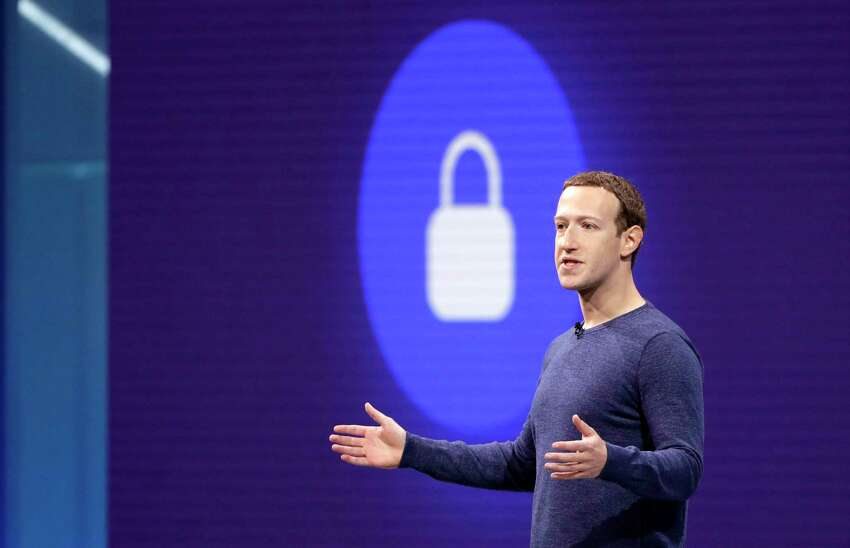 FILE- In this May 1, 2018, file photo, Facebook CEO Mark Zuckerberg makes the keynote speech at F8, Facebook's developer conference in San Jose, Calif. (AP Photo/Marcio Jose Sanchez, File)