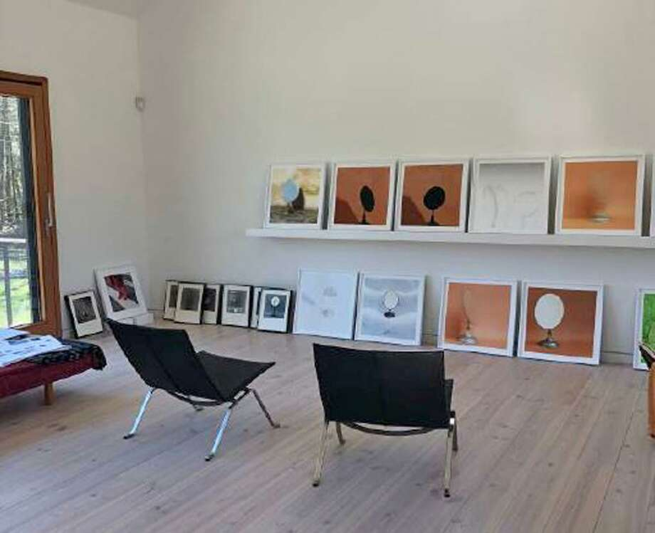 "A view of the exhibit ""Glass and Mirrors"" at James Barron Art in Kent. Photo: James Barron Art / Contributed Photos"