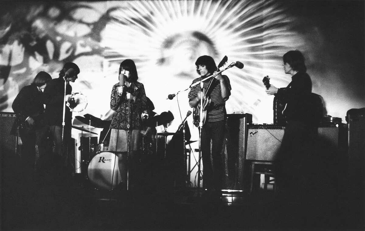 January 8, 1967, New York City, Webster Hall, Jefferson Airplane: Jack Casady, MartyBalin, Grace Slick, Spencer Dryden, Jorma Kaukonen, Paul Kantner.