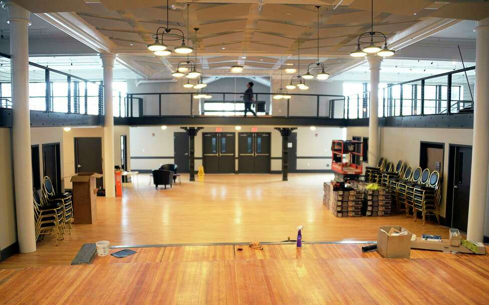 The main lobby of the new Electric City Barn, a newly purposed building with makerspace and community meeting rooms on the ground floor and apartments on the top floors on Craig Street Wednesday Sept. 26, 2018 in Schenectady, NY. The project is part of the first phase of a $19.5 million Hillside View development. Read about it.(John Carl D'Annibale/Times Union)