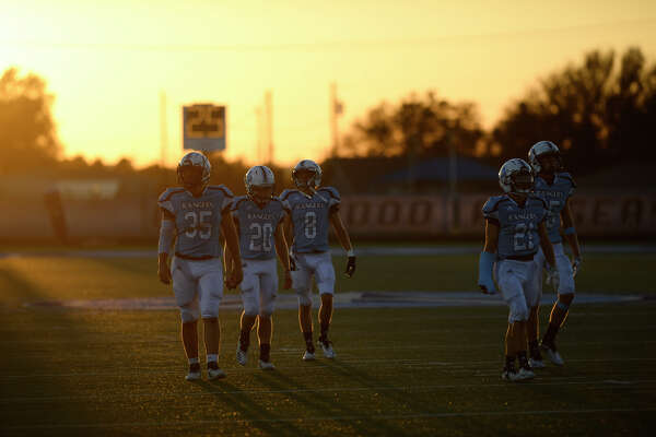 Greenwood players take the field during the game against Sweetwater Sept. 28, 2019, at J.M. King Memorial Stadium in Greenwood. James Durbin/Reporter-Telegram
