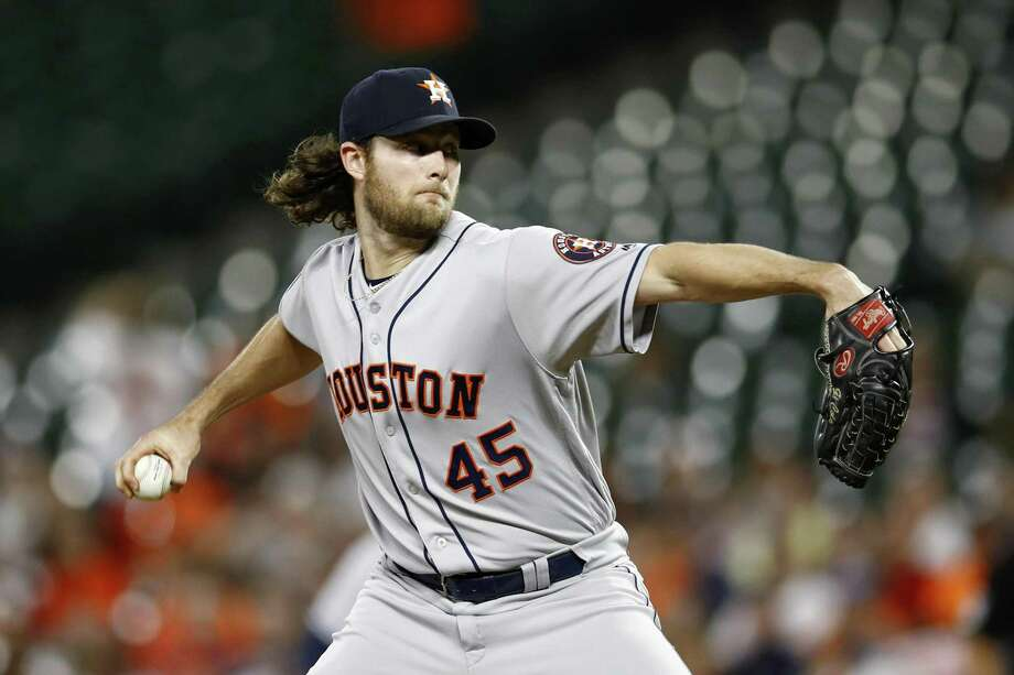 Astros starter Gerrit Cole has pitched at least 200 innings in three seasons of his six-year major league career. Photo: Patrick Semansky, STF / Associated Press / Copyright 2018 The Associated Press. All rights reserved.