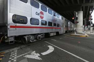 The 16th Street Caltrain tracks as seen on Thursday, July 26, 2018 in San Francisco, Calif.