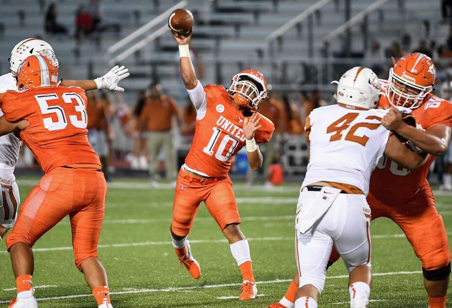United starting quarterback Wayo Huerta will be a game-time decision Thursday as United hosts Edinburg Vela at 7 p.m. at the SAC to open the season. Photo: Danny Zaragoza / Laredo Morning Times