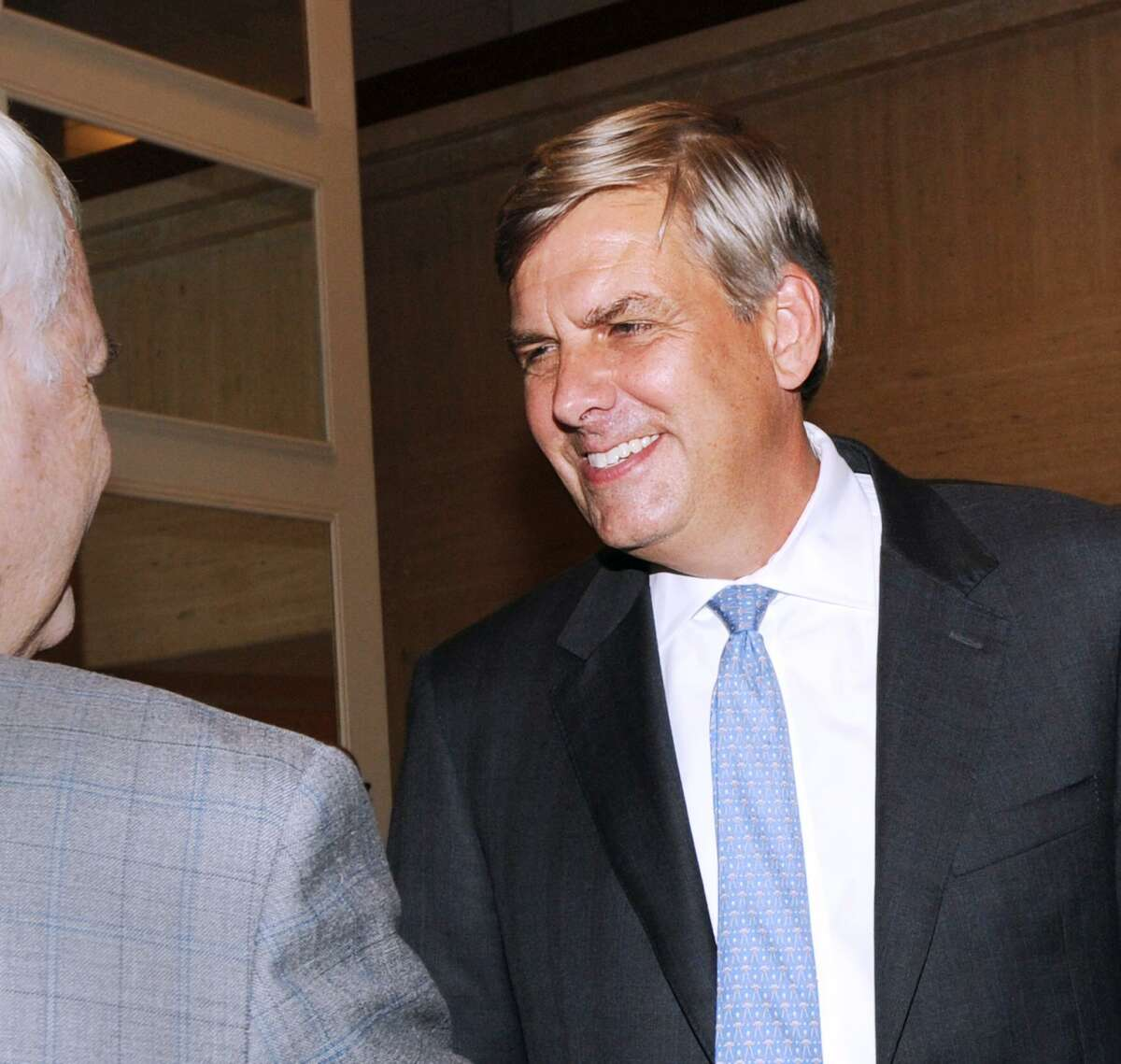 Republican gubernatorial nominee Bob Stefanowski during the State Republicans annual Prescott Bush Awards Dinner at the Stamford Marriott Hotel & Spa, Conn., Thursday, Sept. 27, 2018.