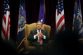 FILE-- Supreme Court Chief Justice John Roberts during a talk at the New York University School of Law in New York, Nov. 20, 2015. In a significant victory for the Obama administration, Roberts on March 3, 2016, refused to block an Environmental Protection Agency regulation limiting emissions of mercury and other toxic pollutants from coal-fired power plants. (Richard Perry/The New York Times)